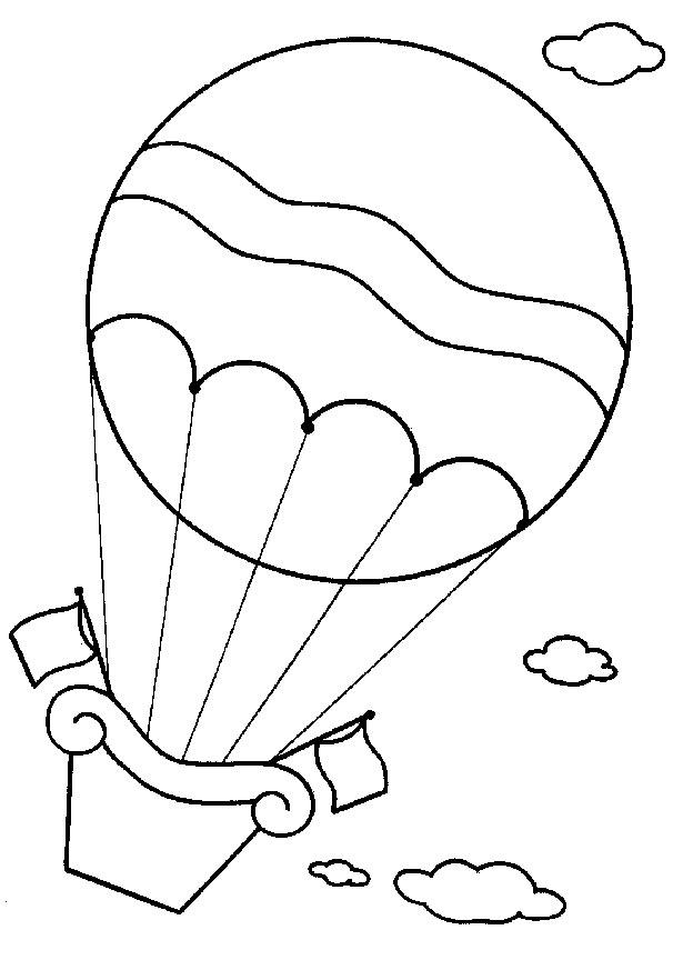Luchtballonnen (5) kleurplaat