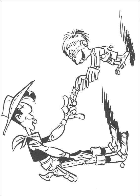 Lucky Luke (28) coloring page