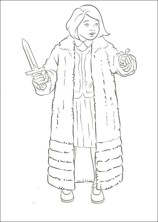Lucy coloring page