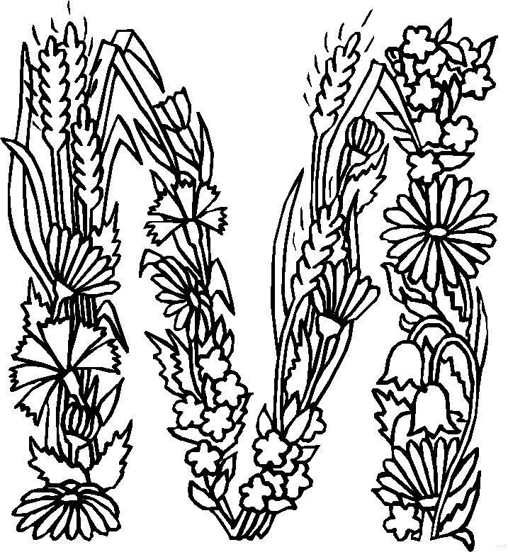 M (1) kleurplaat