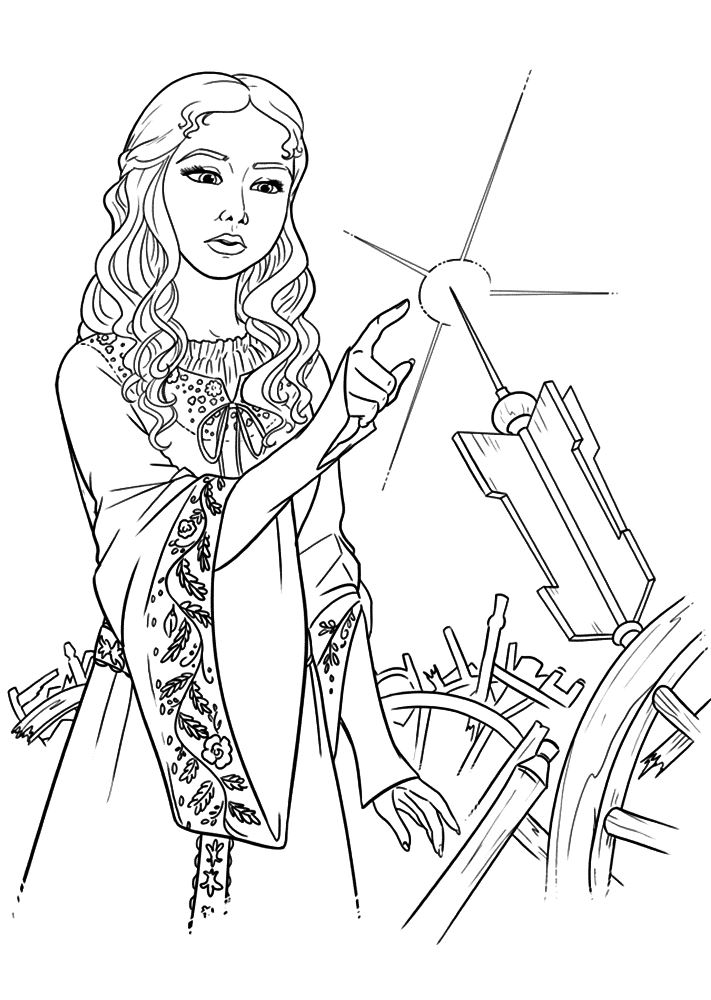 Maleficent (1) coloring page