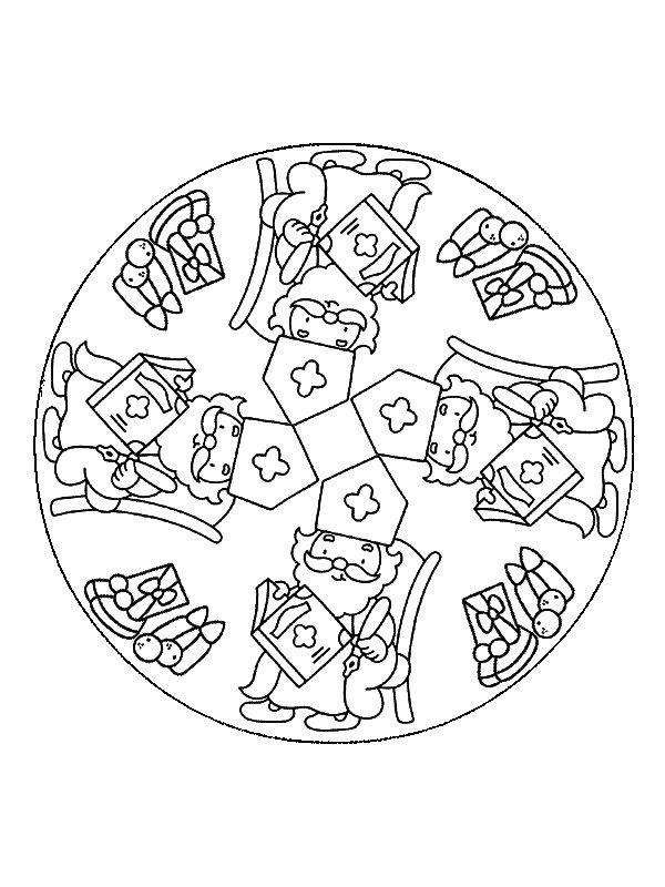 Mandala Sinterklaas (1) coloring page