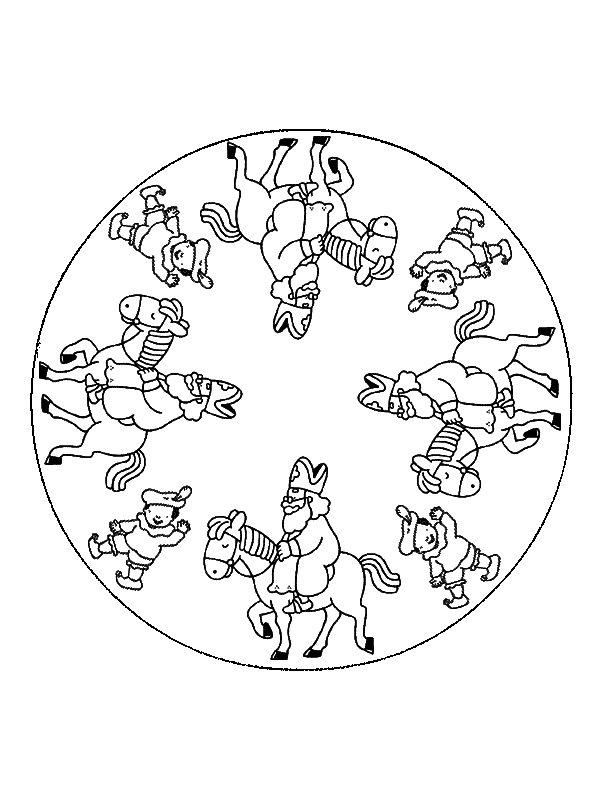 Mandala Sinterklaas målarbok