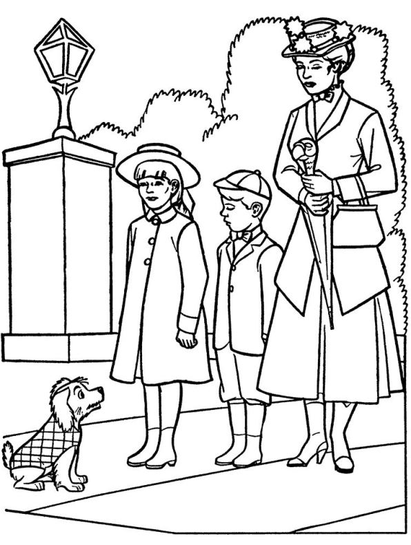 Mary Poppins (8) kleurplaat