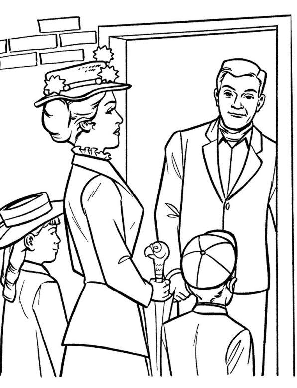 Mary Poppins (9) kleurplaat