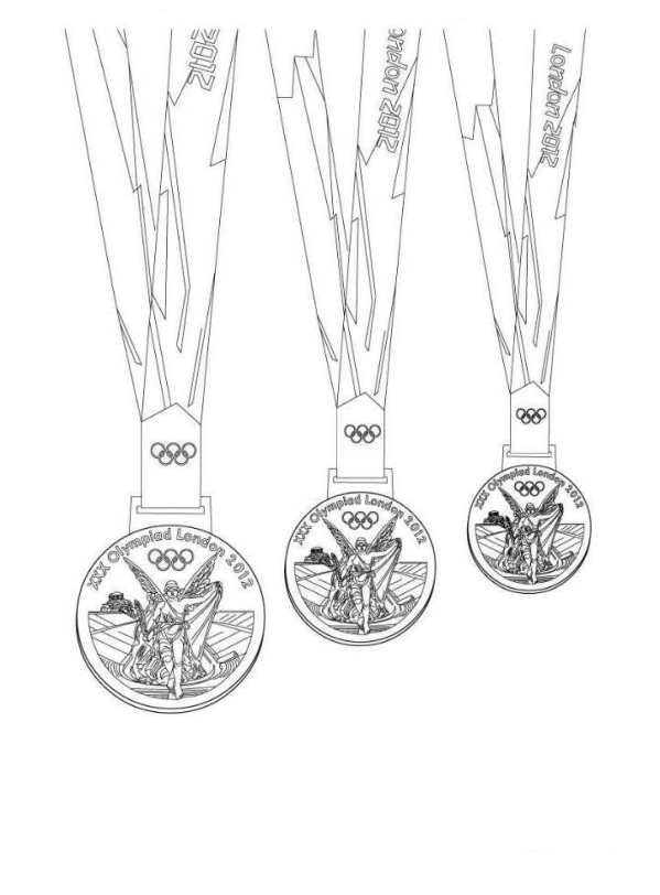 medals coloring page