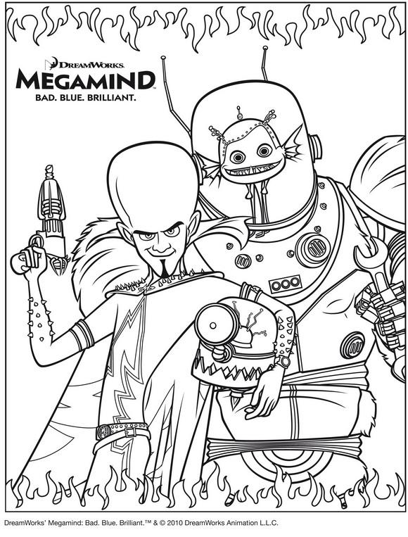 Раскраска MegamindK (2)