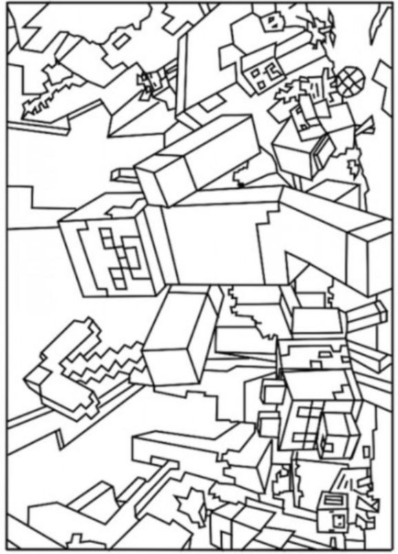 Minecraft (16) målarbok