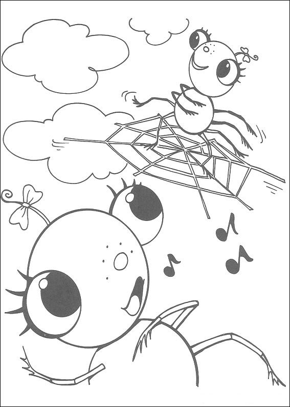 Miss Spider (11) coloring page