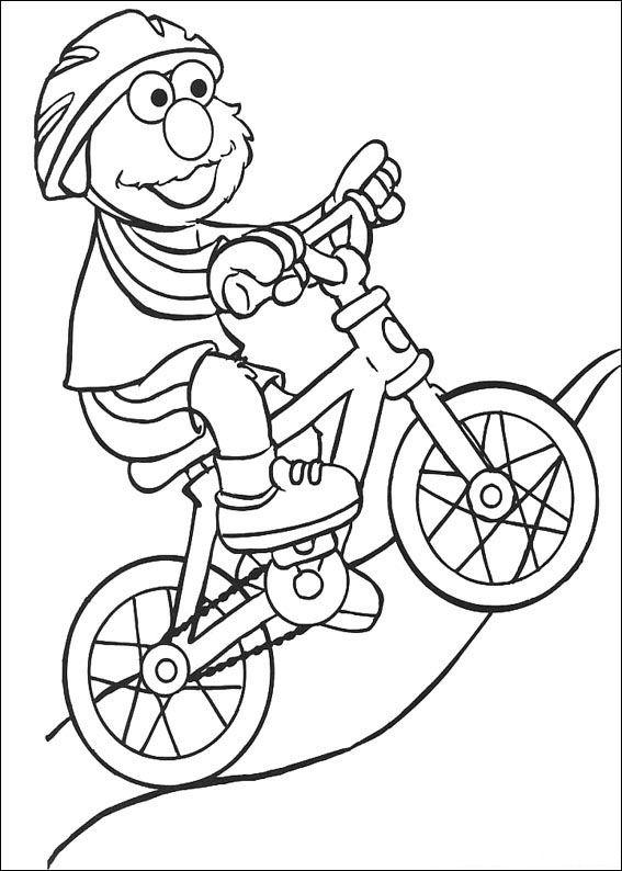 Mountasinbiken målarbok