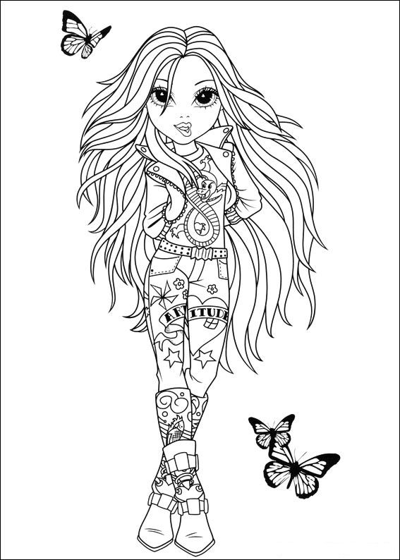 Moxie Girlz (1) coloring page