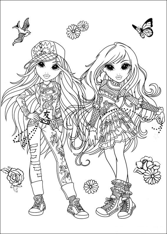 Moxie Girlz (5) coloring page