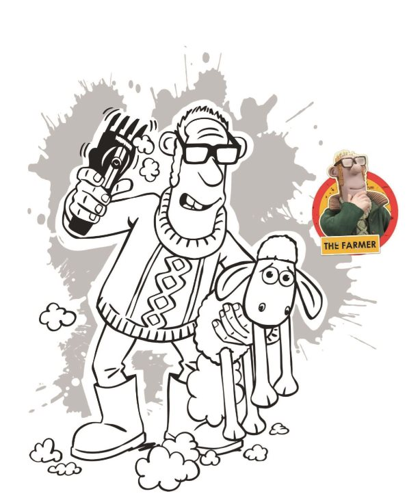 Mr. X Shaun coloring page