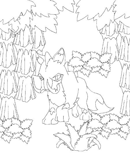 Neopets Prehistorie (11) kleurplaat