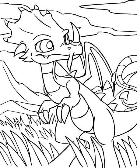 Neopets Prehistory (8) coloring page