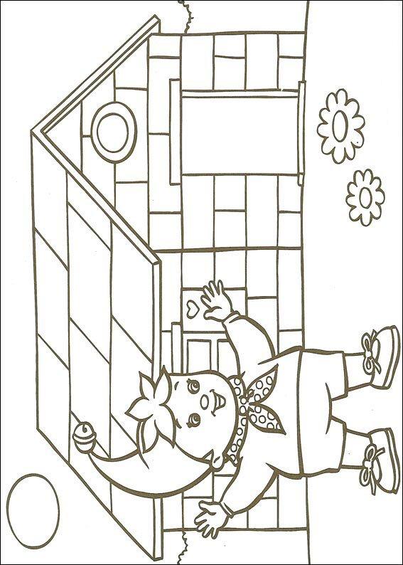 Pagina da colorare di Noddy (4)