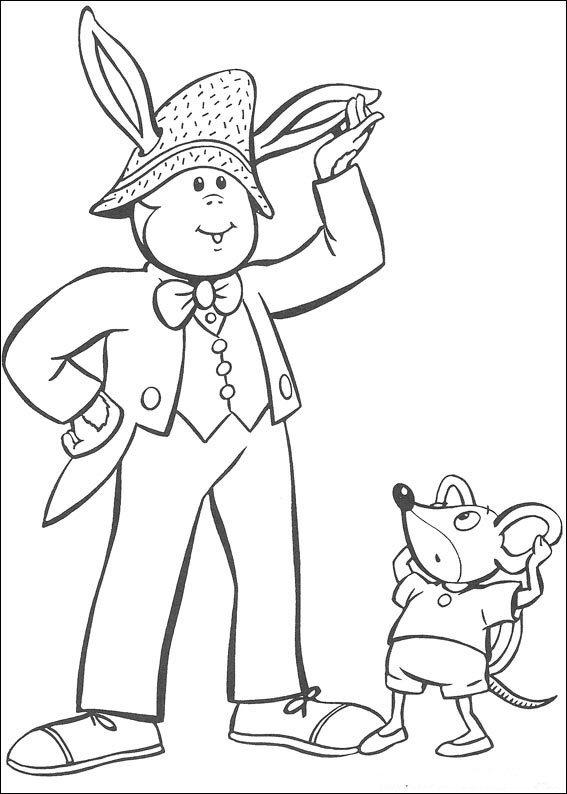 Pagina da colorare di Noddy (6)