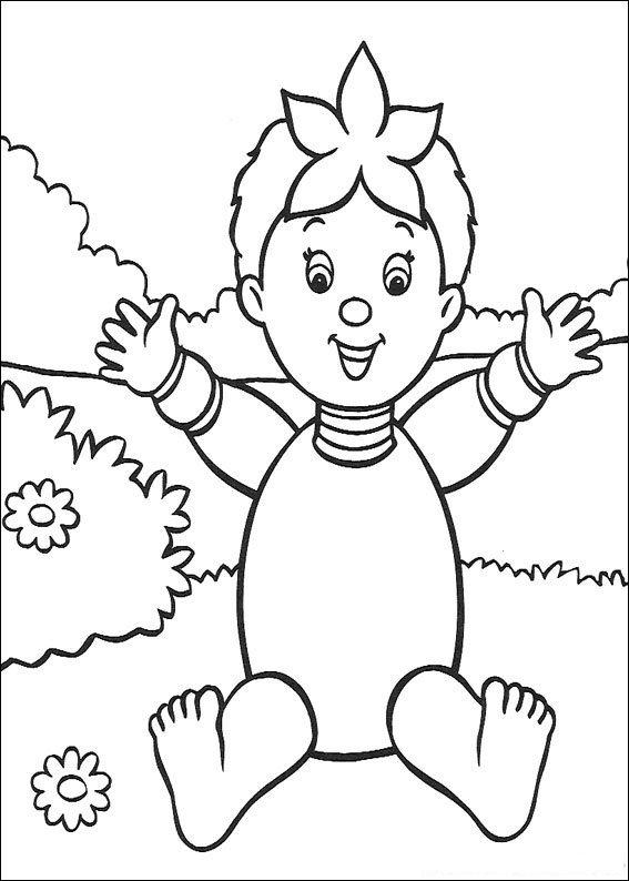 Pagina da colorare di Noddy (7)