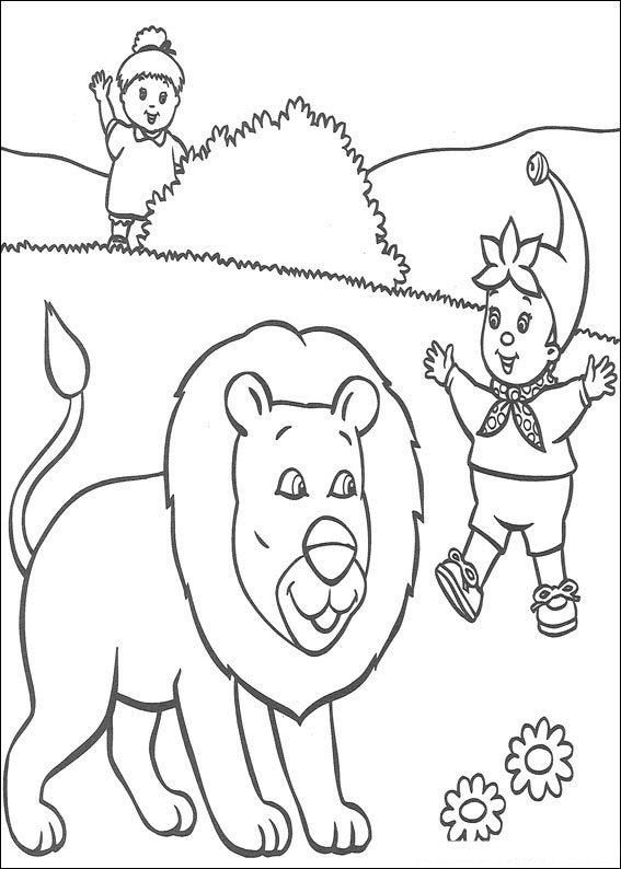 Colora Noddy e il leone