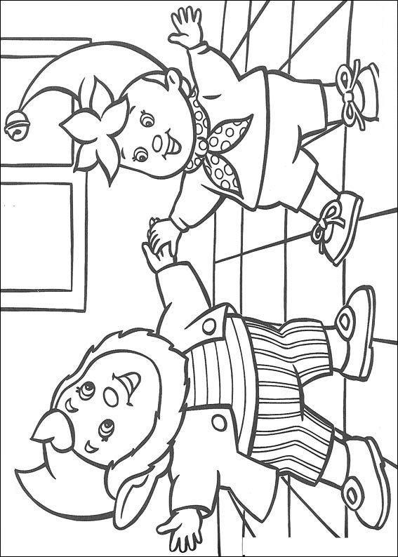 Pagina da colorare di Noddy e Groot-Oor (3)