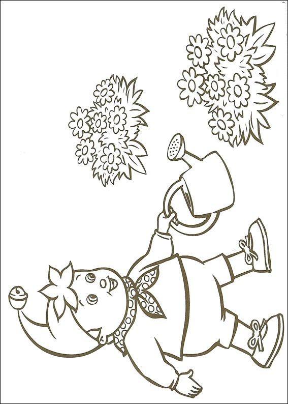 Colora Noddy con annaffiatoio