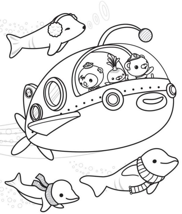Octonauts (9) coloring page