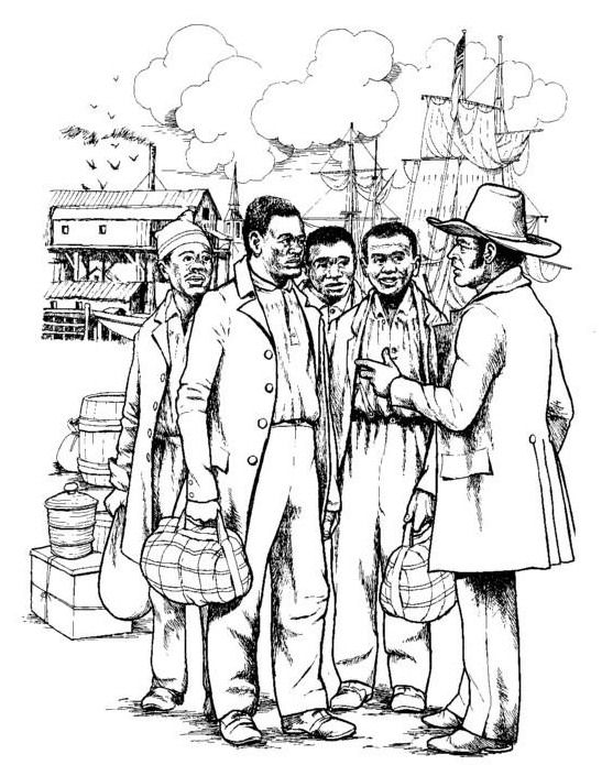 Negotiate the return trip coloring page
