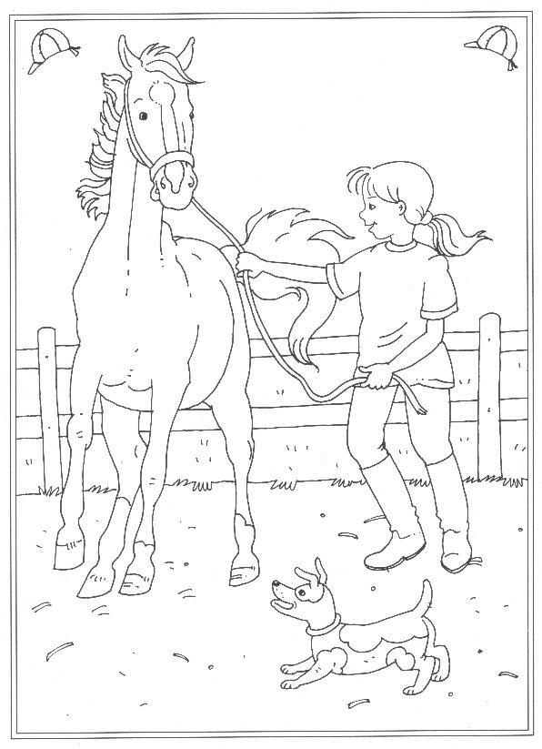 På ridskolan (3) målarbok