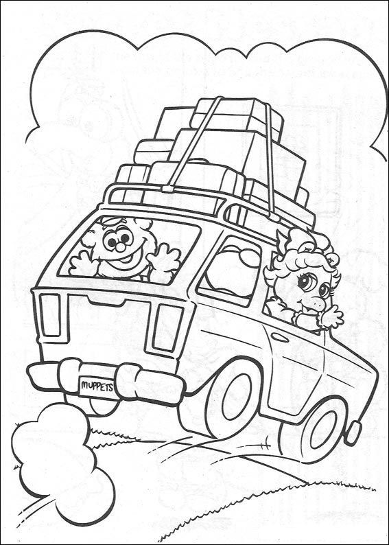 On vacation coloring page