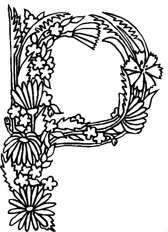 P (1) kleurplaat