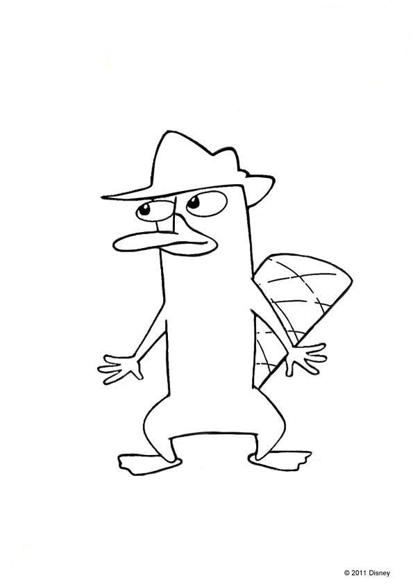 Kleurplaten Phineas Ferb Uitprinten.Perry Het Vogelbekdier Kleurplaat Jouwkleurplaten
