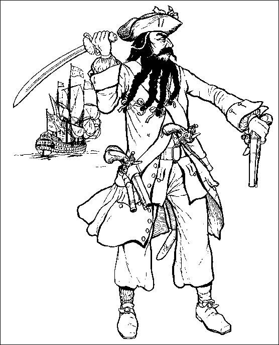 Piraat (1) kleurplaat