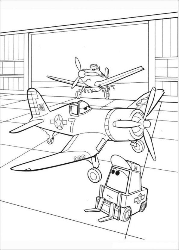 Planes (10) kleurplaat