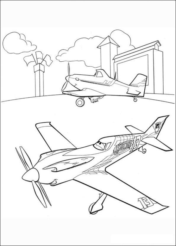 Planes (6) kleurplaat