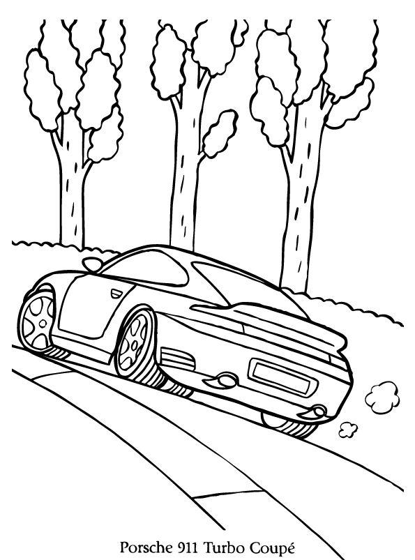 Kleurplaten Autos Porsche.Porsche 911 Kleurplaat Jouwkleurplaten