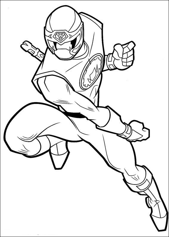 Power Rangers (50) coloring page