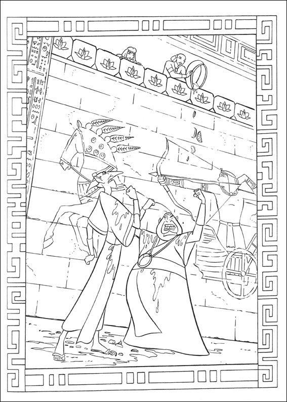 Prins van Egypte (3) kleurplaat