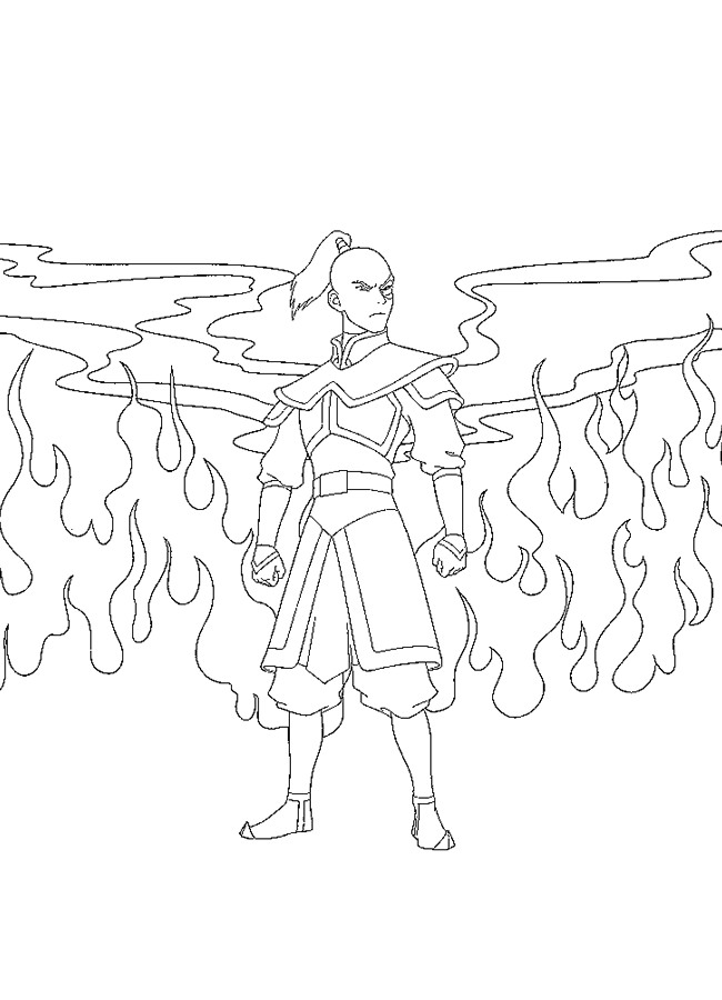 Prince Zuko (4) coloring page