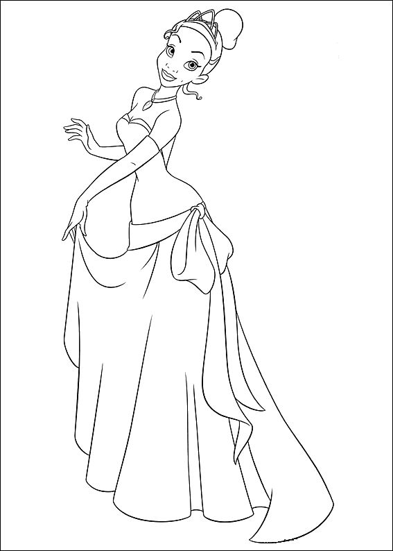 Princess and the frog (14) coloring page