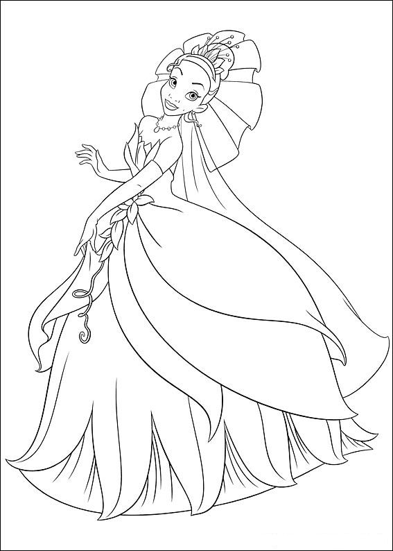 Princess and the frog (3) coloring page