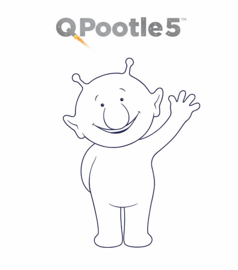 Q-pootle-5 coloring page