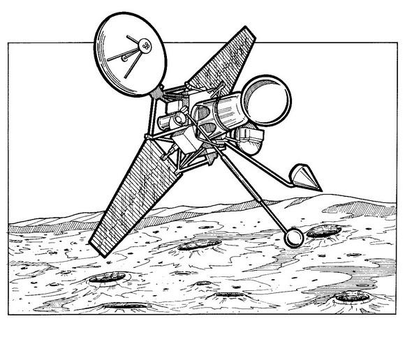 Rabger 4, chraste på månen, 1962 målarbok