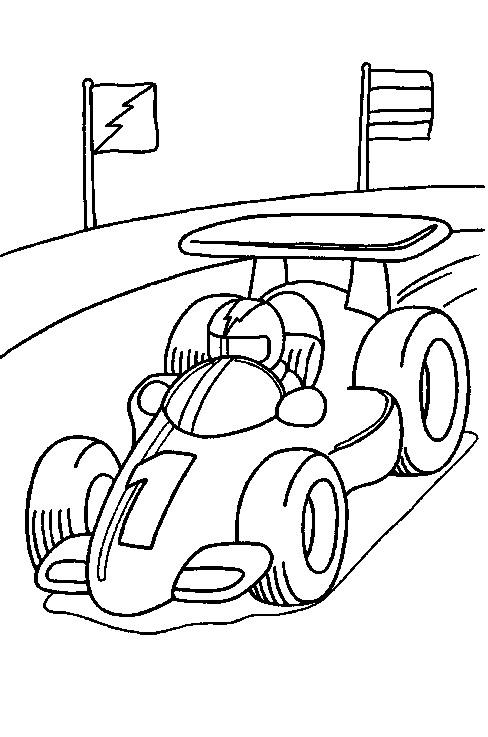 Racewagen Kleurplaat Jouwkleurplaten