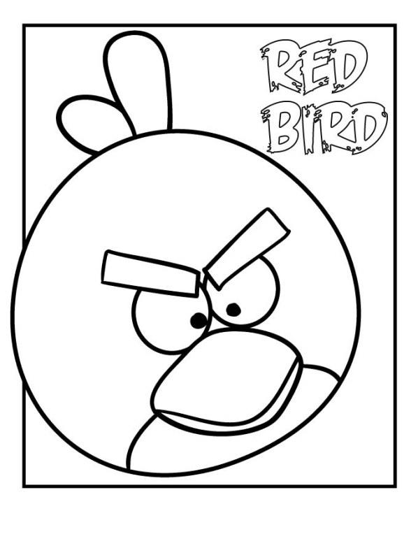 röd fågel målarbok