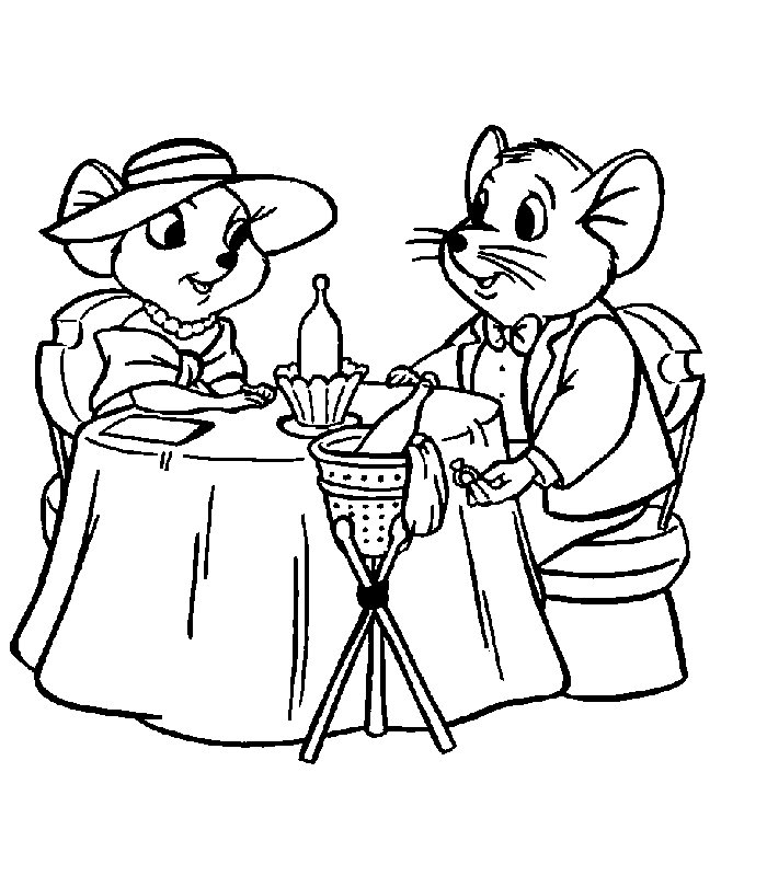 Rescuers (5) coloring page