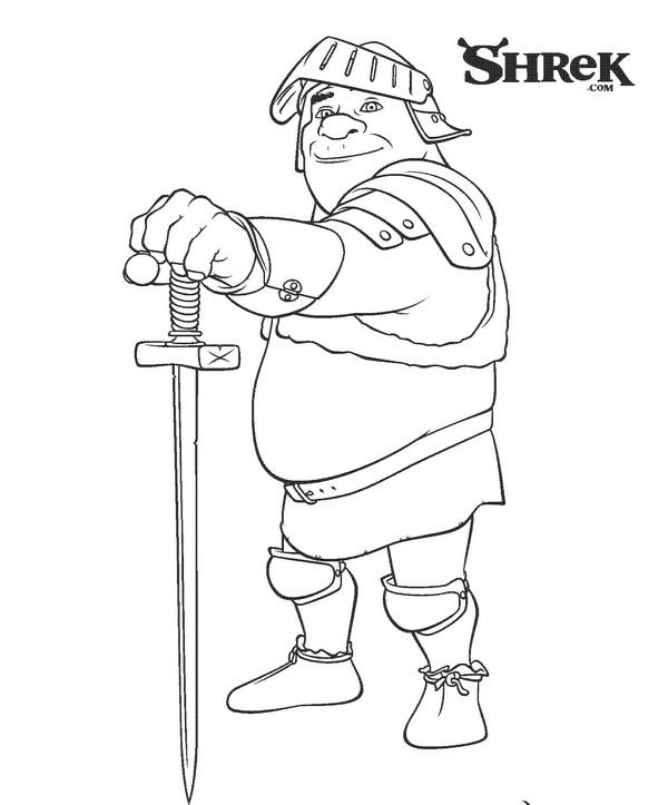 Ridder Shrek kleurplaat
