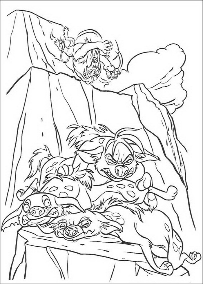 Scar defeated coloring page