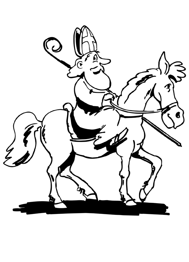 Sinter on his horse coloring page