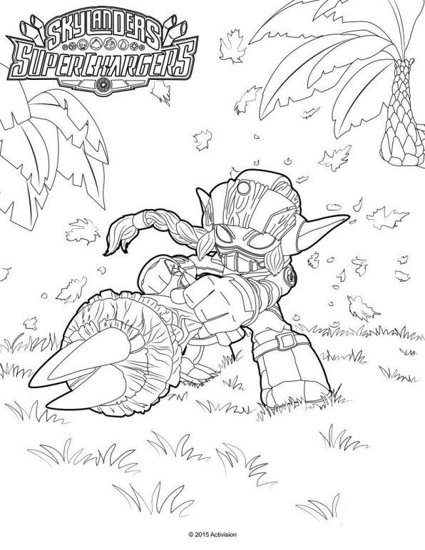 Skylander superchargers (6) coloring page