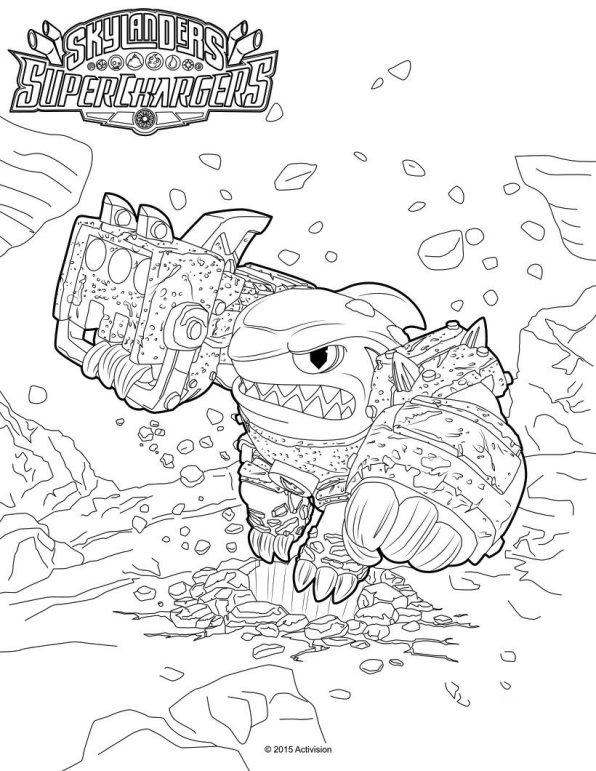 Skylander superchargers (8) coloring page